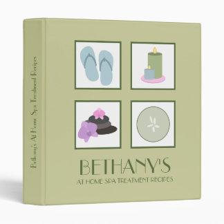 Recipe Book - At Home Spa Treatments Vinyl Binders