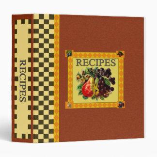Recipe Book Binders