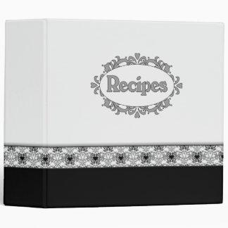 Recipe Book (Black And White) Binder