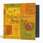 Recipe Book, fall Binder