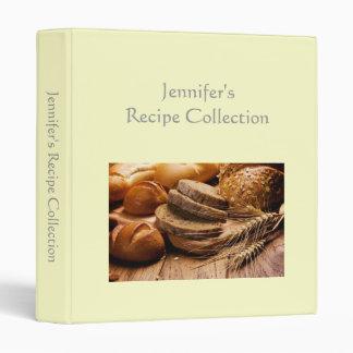 Recipe book plain cream custom name photo binder