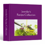 Recipe book plain purple custom name photo binder