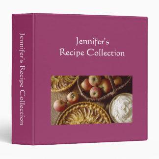 Recipe book plain red custom name photo binder