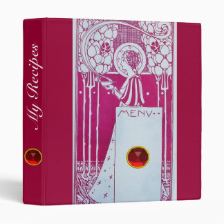 RECIPE BOOK RESTAURANT MENU 3 RING BINDER
