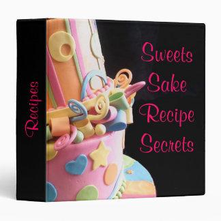 recipe cake business personal binder colorful yum