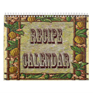 Recipe Calendar 20XX