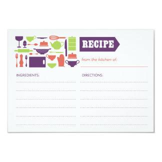 "Recipe card 3.5"" x 5"" invitation card"