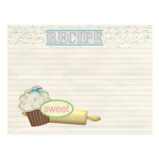 recipe card cupcake