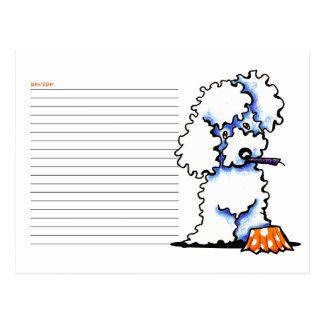 Recipe Card Cupcake Poodle White