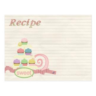 recipe card cupcake tray