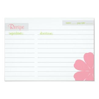 "Recipe Card | Flowerful |pi 3.5"" X 5"" Invitation Card"