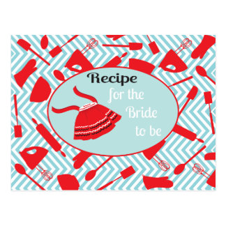 Recipe card for the bride to be