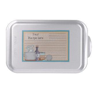 Recipe card fun cake pan add words
