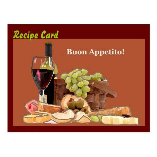 Recipe Card Gift Set - Buon Appetito Post Card