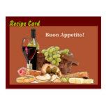 Recipe Card Gift Set - Buon Appetito Postcard