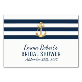 Recipe Card | Gold Anchor Nautical Bridal Shower