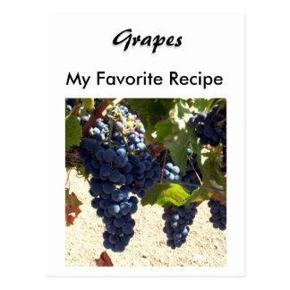 Recipe Card - Grapes