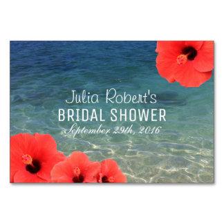 Recipe Card |Hawaiian Hibiscus Beach Bridal Shower
