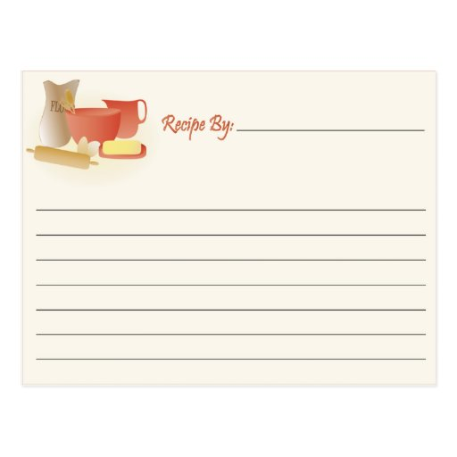 Recipe Card - Mixing Postcard