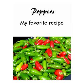 Recipe Card - Peppers