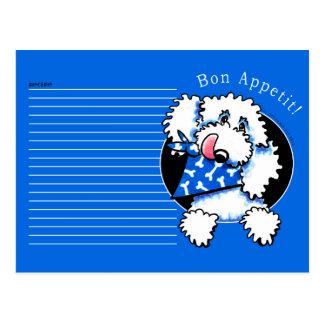 Recipe Card Poodle Bon Appetit Blue