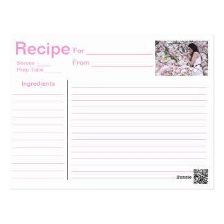 Recipe Card Post Card