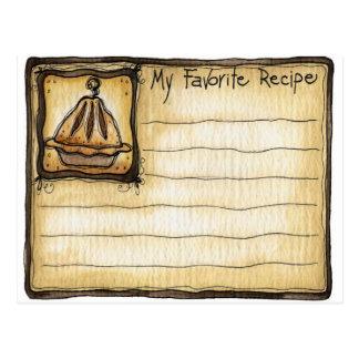 recipe card postcards