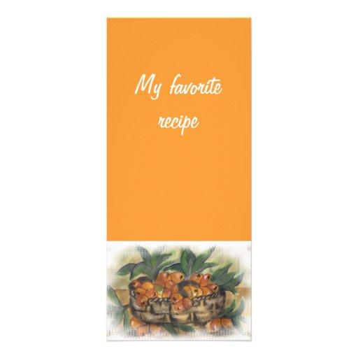 recipe card rack cards