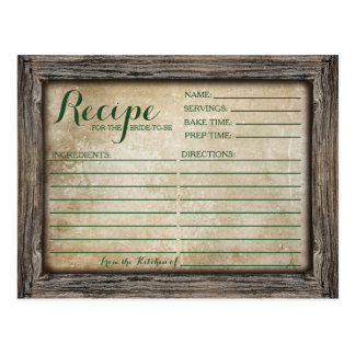 Recipe Card | Rustic Calligraphy Card
