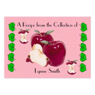 Recipe card (small) Apple design Large Business Card