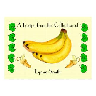 Recipe card (small) Banana design Large Business Card