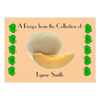 Recipe card (small) Cantaloupe design Large Business Card