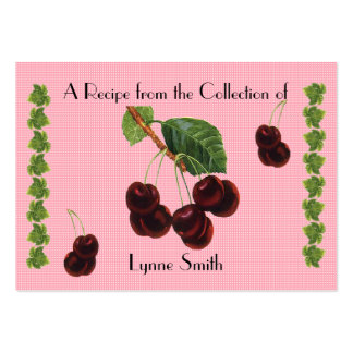 Recipe card (small) cherry design large business card