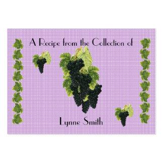 Recipe card (small) Grape Cluster design Large Business Card