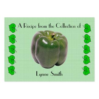 Recipe card (small) Green Pepper design Large Business Card