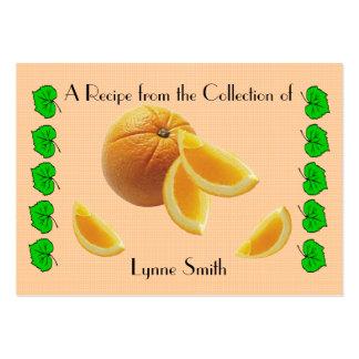 Recipe card (small) Orange design Large Business Card