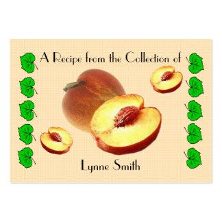 Recipe card (small) Peach design Large Business Card