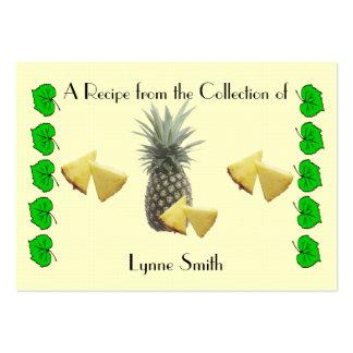Recipe card (small) Pineapple design Business Card