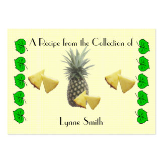 Recipe card (small) Pineapple design Large Business Card