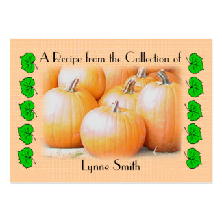 Recipe card (small) Pumpkin design Large Business Card