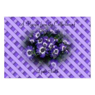 Recipe card (small)Purple Flowers design Large Business Card