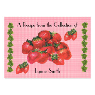 Recipe card (small) strawberry design large business card