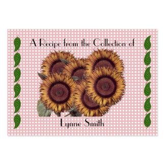 Recipe card (small) Sunflower design Large Business Card