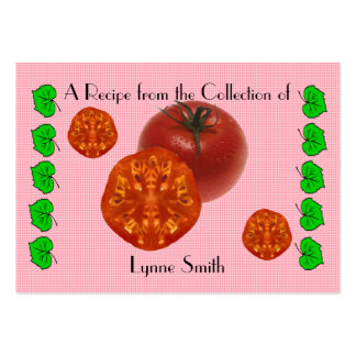 Recipe card (small) Tomatoes design Large Business Card