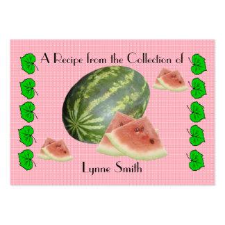 Recipe card (small) Watermelon design Large Business Card