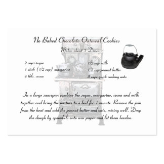 Recipe card smaller size large business card