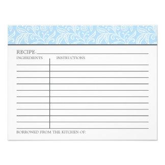 Recipe Card Something Borrowed Something Blue