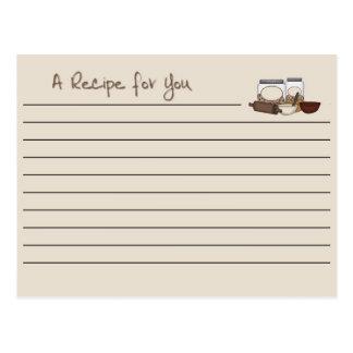 Recipe Card Tan