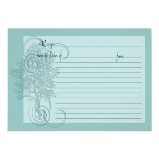 Recipe Card with Family Memory