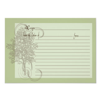 Recipe Card with Family Memory Green